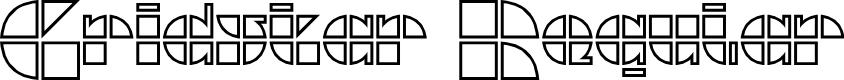 Preview image for Gridstar Regular Font
