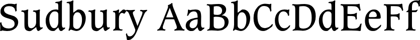 Preview image for Sudbury Book Font