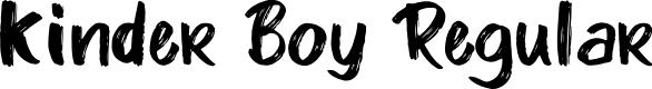 Preview image for Kinder Boy Regular Font