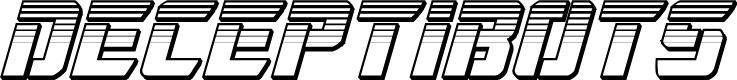 Preview image for Deceptibots Chromium Italic
