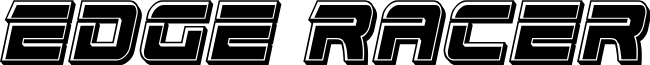 Edge Racer Bevel Italic