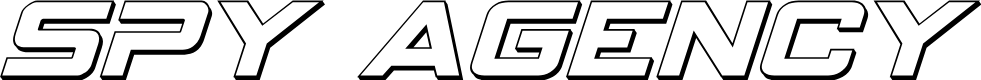 Preview image for Spy Agency 3D Italic