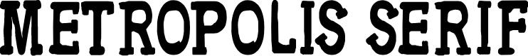 Preview image for CF Metropolis Serif Regular