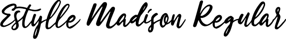 Preview image for Estylle Madison Regular Font
