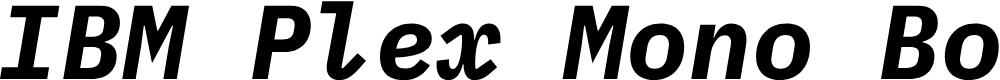 Preview image for IBM Plex Mono Bold Italic