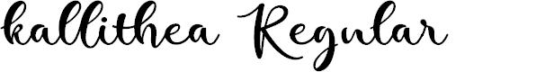 Preview image for kallithea Regular Font