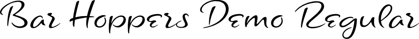Preview image for Bar Hoppers Demo Regular Font