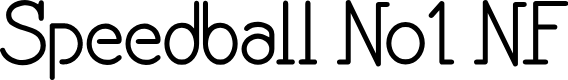 Preview image for Speedball No1 NF Font
