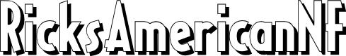 Preview image for RicksAmericanNF Font