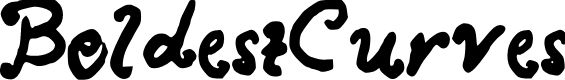 Preview image for BoldestCurves Font