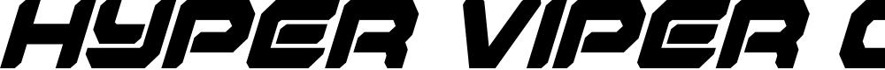 Preview image for Hyper Viper Condensed Italic