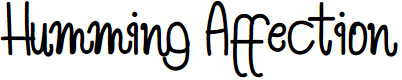 Preview image for Humming Affection Font
