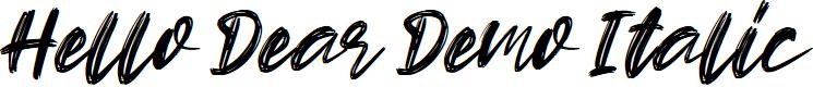 Preview image for Hello Dear Demo Italic Font