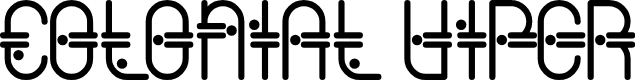 Preview image for ColonialViper Font