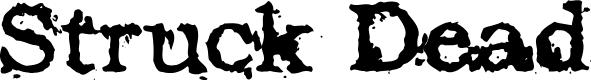 Preview image for Struck Dead Font