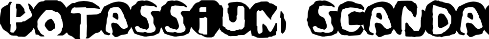Preview image for Potassium Scandal Font