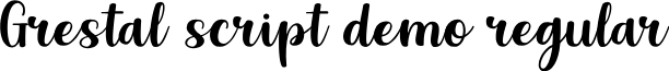 Grestal Script DEMO Regular font