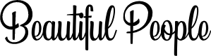 Preview image for Beautiful People Personal Use  Font