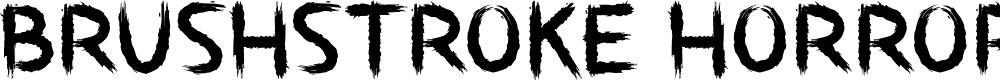 Preview image for Brushstroke Horror Font