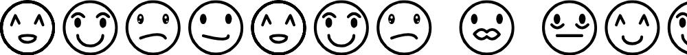 Preview image for Rostros y emociones Font