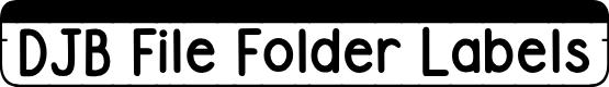 Preview image for DJB File Folder Labels Font