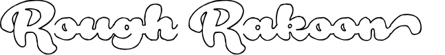 Preview image for Rough Rakoon Out PERSONAL USE Font