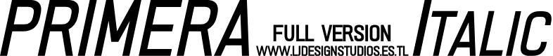 Preview image for PRIMERA Italic
