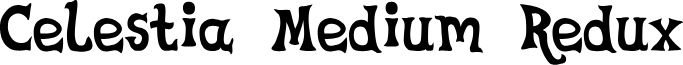 Celestia Medium Redux font