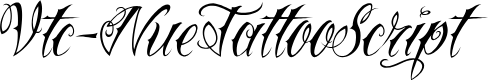 Preview image for Vtc-NueTattooScript Font