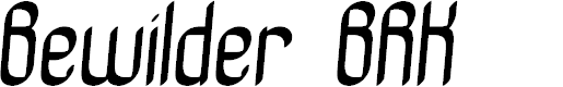Preview image for Bewilder BRK Font