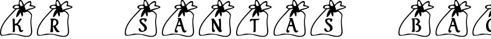 Preview image for KR Santas Bag Font