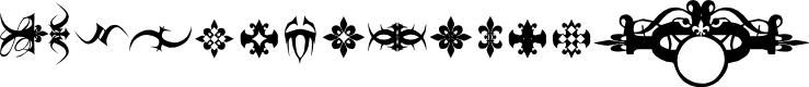 Preview image for Marquis De Sade Ornaments Font