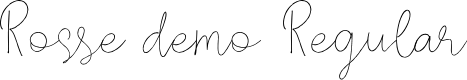 Preview image for Rosse DEMO Regular Font