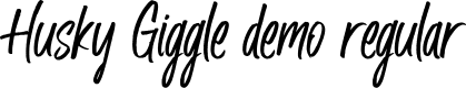 Preview image for Husky Giggle DEMO Regular Font