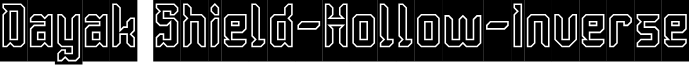 Dayak Shield-Hollow-Inverse