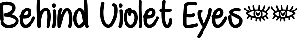 Preview image for Behind Violet Eyes Font