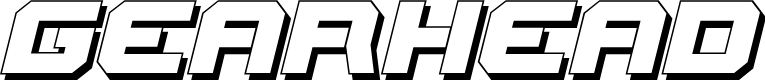 Preview image for Gearhead 3D Italic