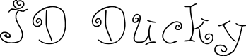 Preview image for JD Ducky Font