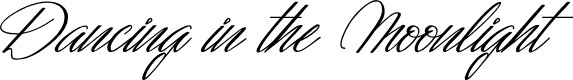 Preview image for Dancing in the Moonlight Font