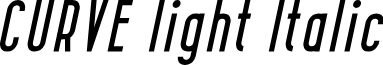 CURVE light Italic