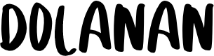 Preview image for DOLANAN Font