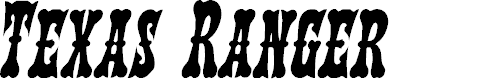 Preview image for Texas Ranger Condensed Italic