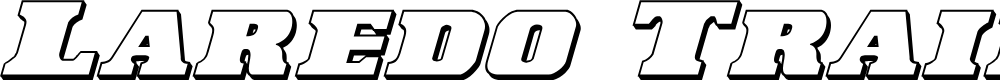 Preview image for Laredo Trail 3D Italic