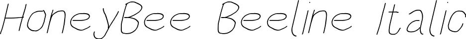 Preview image for HoneyBee Beeline Italic