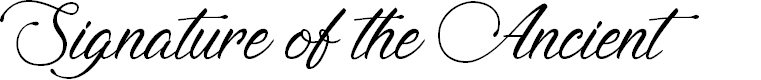 Preview image for Signature of the Ancient Font