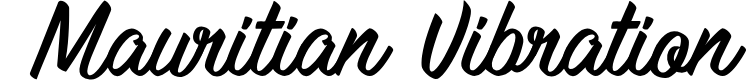 Preview image for Mauritian Vibration Font