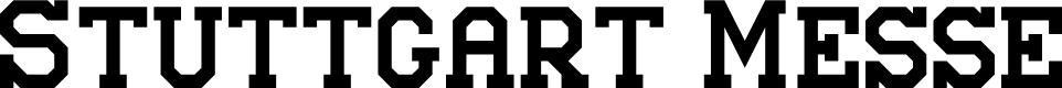 Preview image for Stuttgart Messe Font