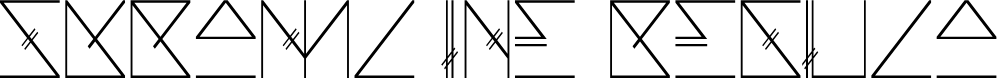 Preview image for Skramline Regular Font