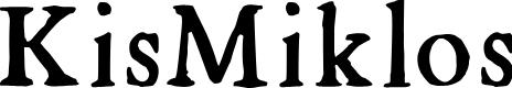 Preview image for KisMiklos Font