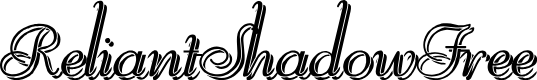 Preview image for ReliantShadowFree Font